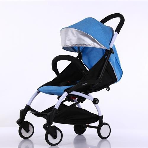 高景观铝合金小苹果婴儿推车四轮平稳可平躺一件代发