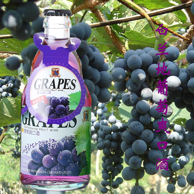 韩国式白兰地葡萄爽口酒健康葡萄水果酒