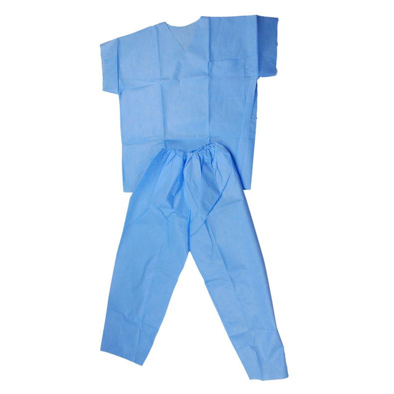 一次性无纺布工作服 上下两件套工作服