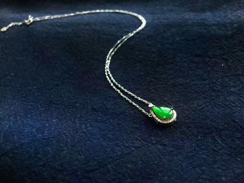 裴翠T170608-4 绿水滴锁骨链