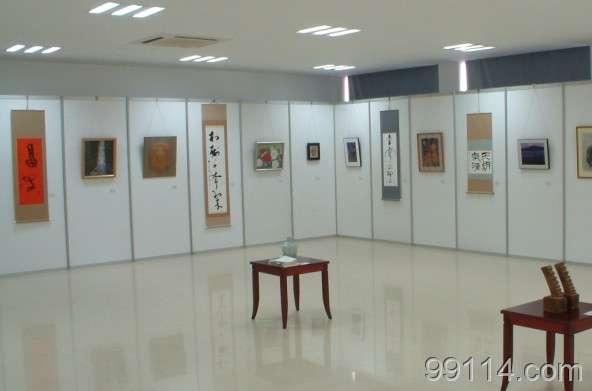 2014新品八棱柱展板 展览器材 屏风铝材展架 学校作品摄影展