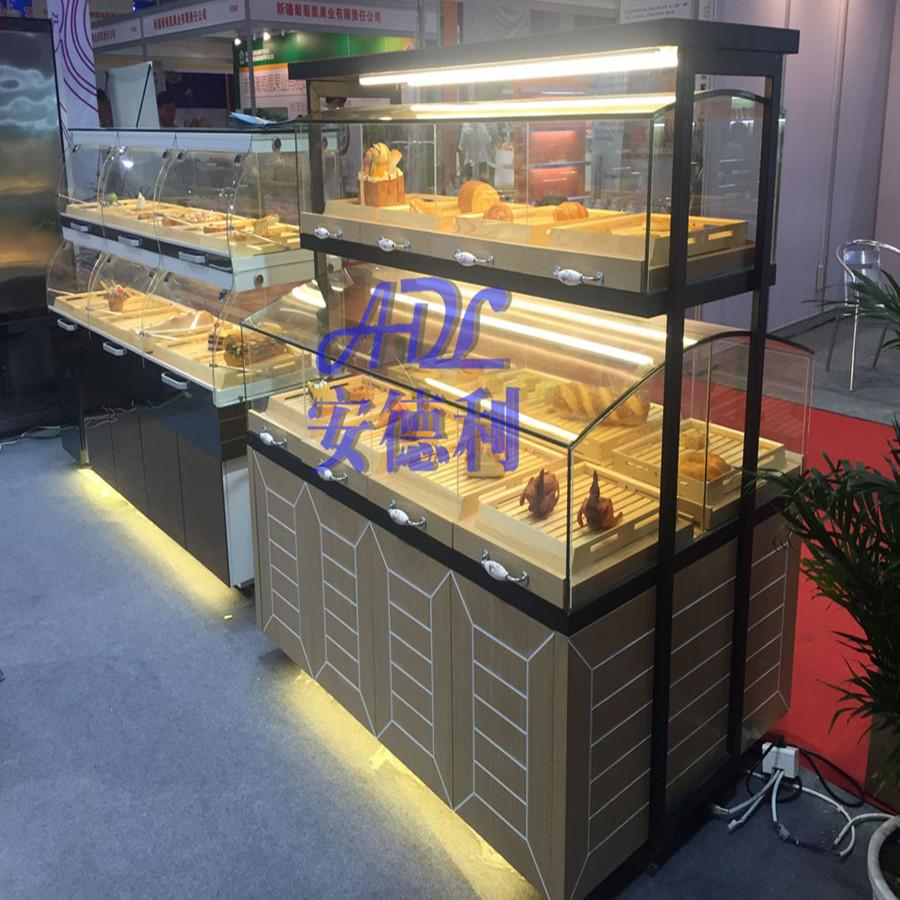 面包柜厂家 面包柜 面包展示柜 木纹中岛柜 面包中岛柜 面包柜定做