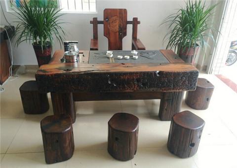 老船木家具茶几茶台实木功夫泡茶桌茶桌椅组合