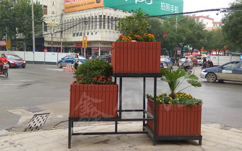 西安创汇新型沙制品透气环保户外立体组合花箱园林绿化工程屋顶阳台种花种菜会呼吸的花盆花箱支持定制