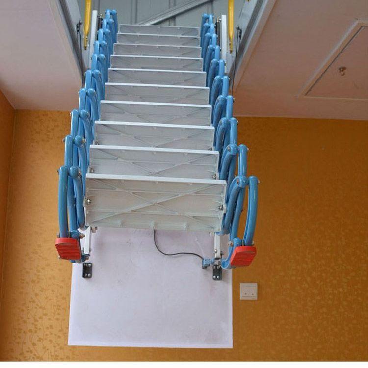 最优秀的伸缩楼梯厂家 上海小阁楼伸缩楼梯 阁楼伸缩梯子价格