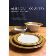 三石 新加坡陆升 日式餐盘 面碗 汤盆 仿陶设计 特色陶瓷餐具