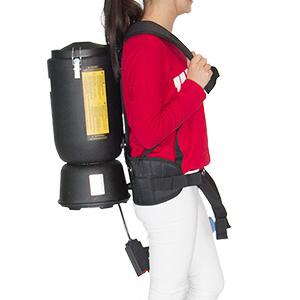 扬州拓威克肩背式电瓶吸尘器电影院公交车飞机舱用小型吸尘器