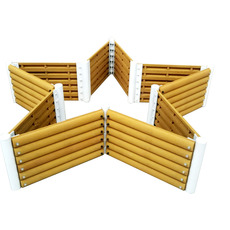 西安创汇新型透气环保户外花箱五角花箱沙制品屋顶阳台种花种菜园林工程城市绿化会呼吸的花盆花箱支持定制