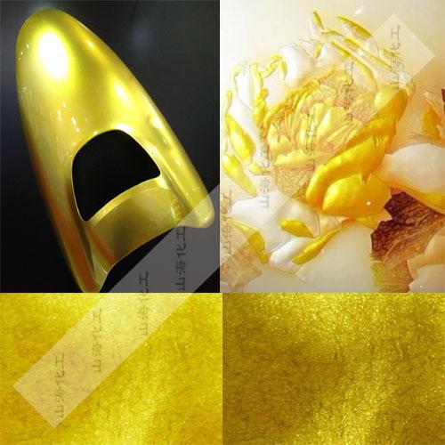 进口默克金超闪超亮黄金粉  水晶金色珠光粉厂家