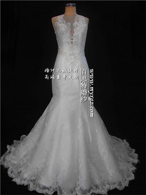 广州百思特新娘婚纱供应 新款鱼尾婚纱