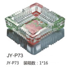 供应 厂家直销 佳颖 JY-P73 彩色烤花 烟灰缸 可定制