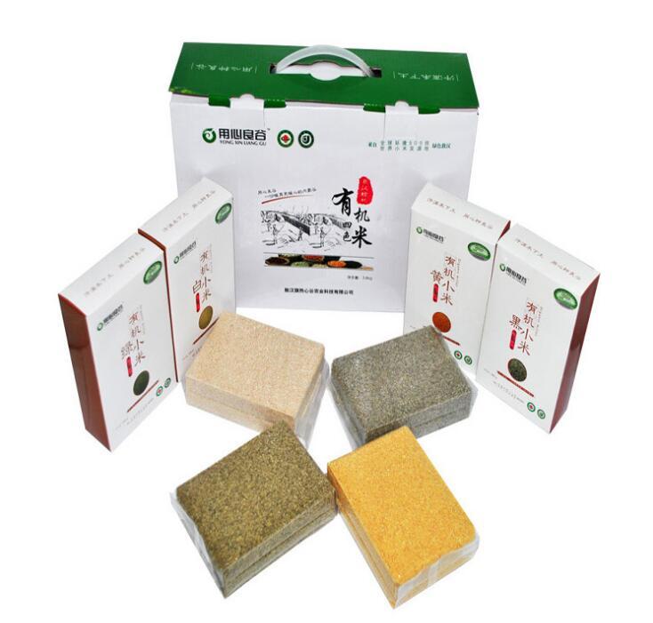 敖汉有机四色小米礼盒 内含黄小米 绿小米 白小米 黑小米 批发 举报 本产品支持七天无理由退货