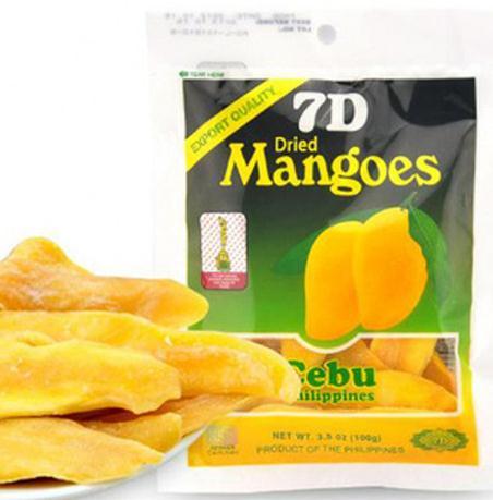 供应进口菲律宾7D芒果干 菲律宾芒果干 零食品批发 一包100g 克