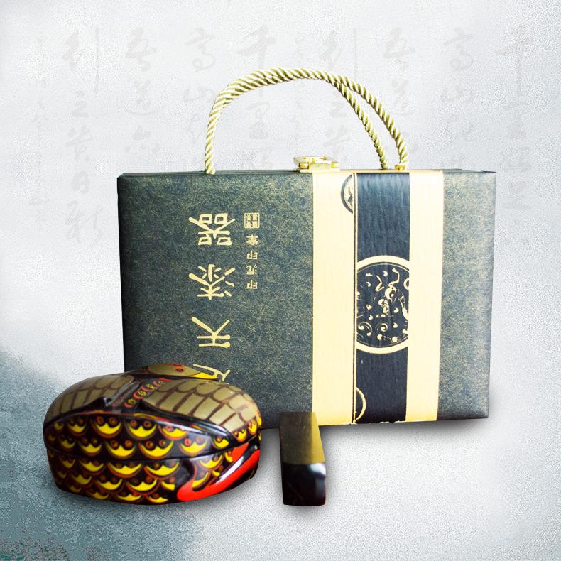 漆器 文化创意产品 办公室中式摆件 香炉礼品 漆器工艺礼品盒定制批发