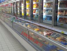 超市低温奶展示柜 冷冻食品保鲜柜 汕头冷藏冷冻子母柜