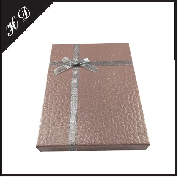 可定制精美丝绸蝴蝶结礼品包装盒