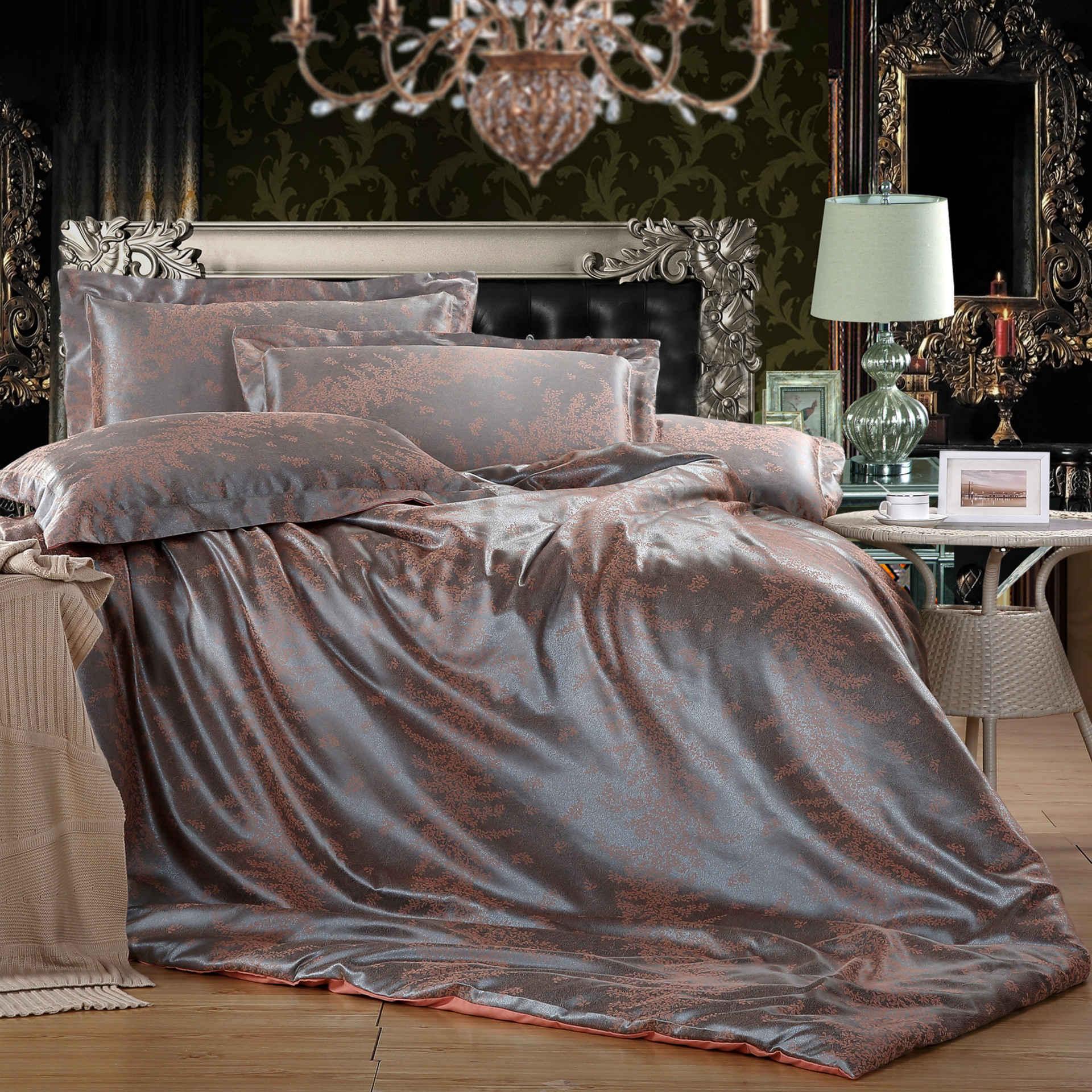 床上用品欧式贡缎四件套婚庆套件批发厂家直销团购一
