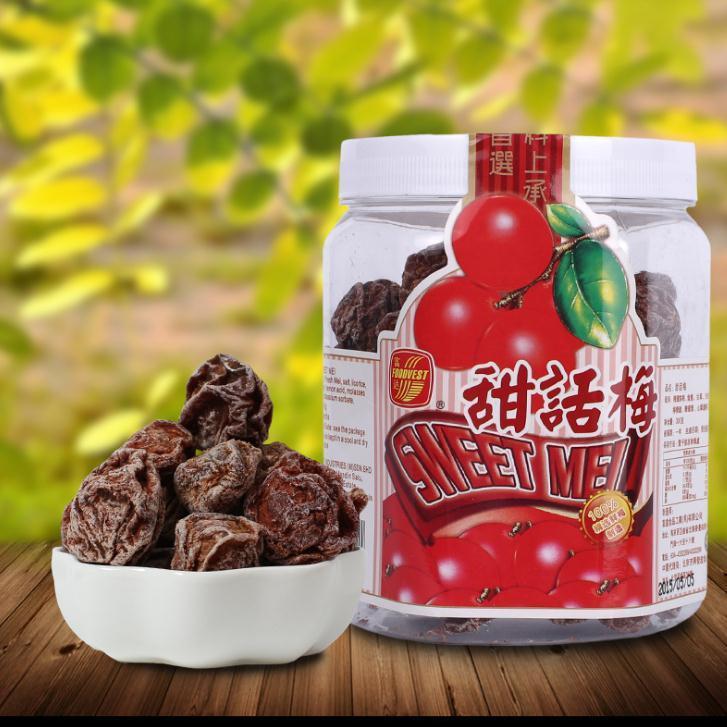 马来西亚富达甜话梅300gx15罐1箱 进口食品蜜饯批发