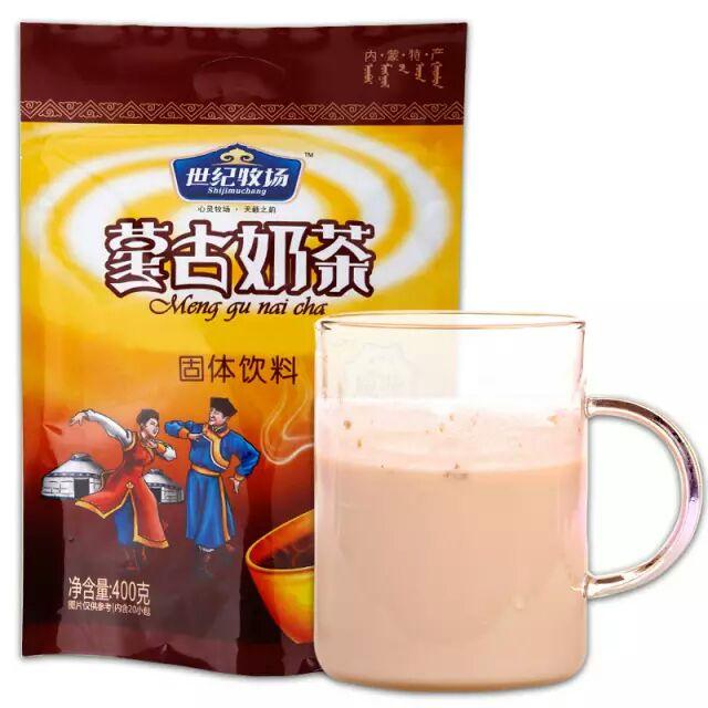 厂家直销世纪牧场内蒙古奶茶粉速溶独立包装特产原味咸味奶茶400g