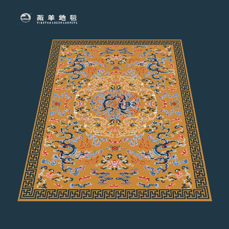 120道纯丝手工编织地毯-中国白茶交易网