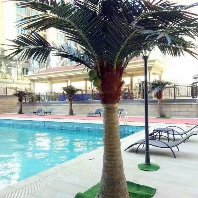 绿色椰子树 仿真热带植物 酒店假仿真树 家居装饰 椰子假树 批发