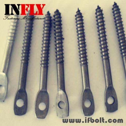 扁头螺栓,打扁头螺丝,扁头带孔螺钉,非标件-英菲螺丝厂