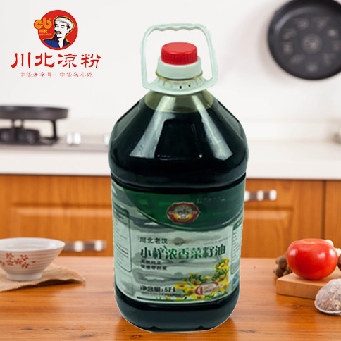 小榨浓香菜籽油5L