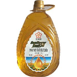幸福家 纯葵花籽油 5L   德邦物流    新疆甘肃西藏等偏远地区不包邮