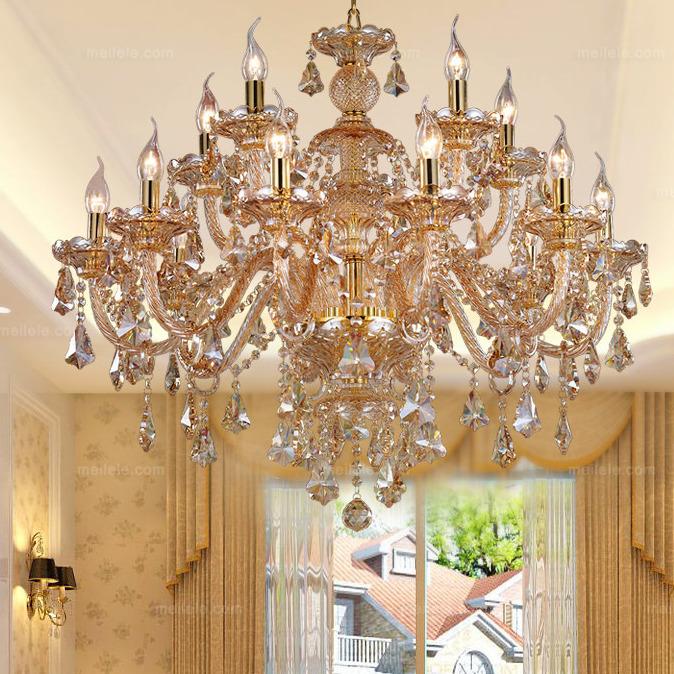 欧式复古 15头吊灯 高级水晶