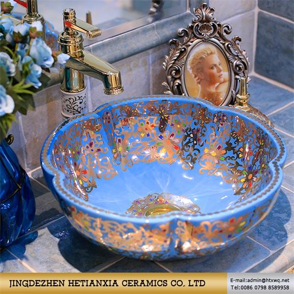 厂家直销提供贴牌 陶瓷台上盆 石上艺术盆 圆形洗手盆 洗脸盆