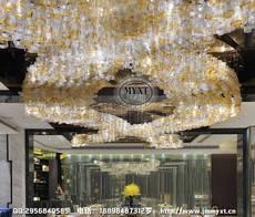 售楼部工程灯 沙盘工程吊灯 售楼中心灯具 现代玻璃艺术吊灯 玻璃工艺吊灯 艺术玻璃灯具