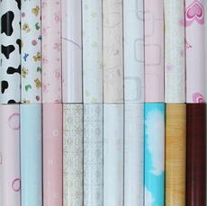 供应 PVC自粘墙纸45cm宽客厅卧室背景壁纸DIY即时贴田园欧式整卷