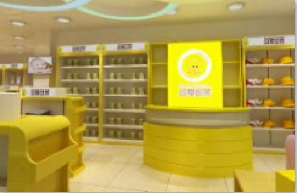 福建展示柜厂家生产可爱可亲母婴展示柜展示架中导柜
