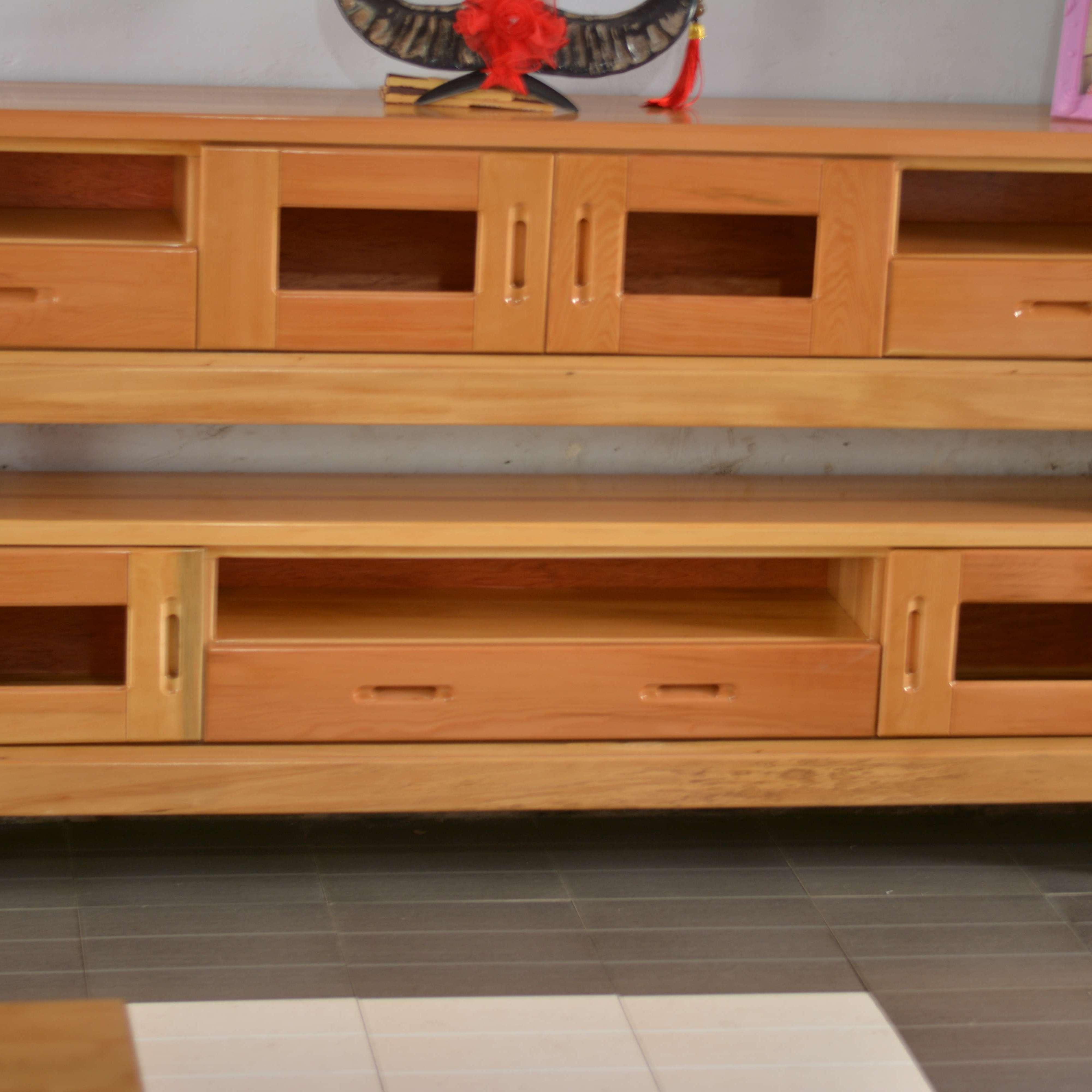 王家实木家具 纯实木电视柜 实木家俱定制 实木板材 环保漆不含有甲醛   厂家直销