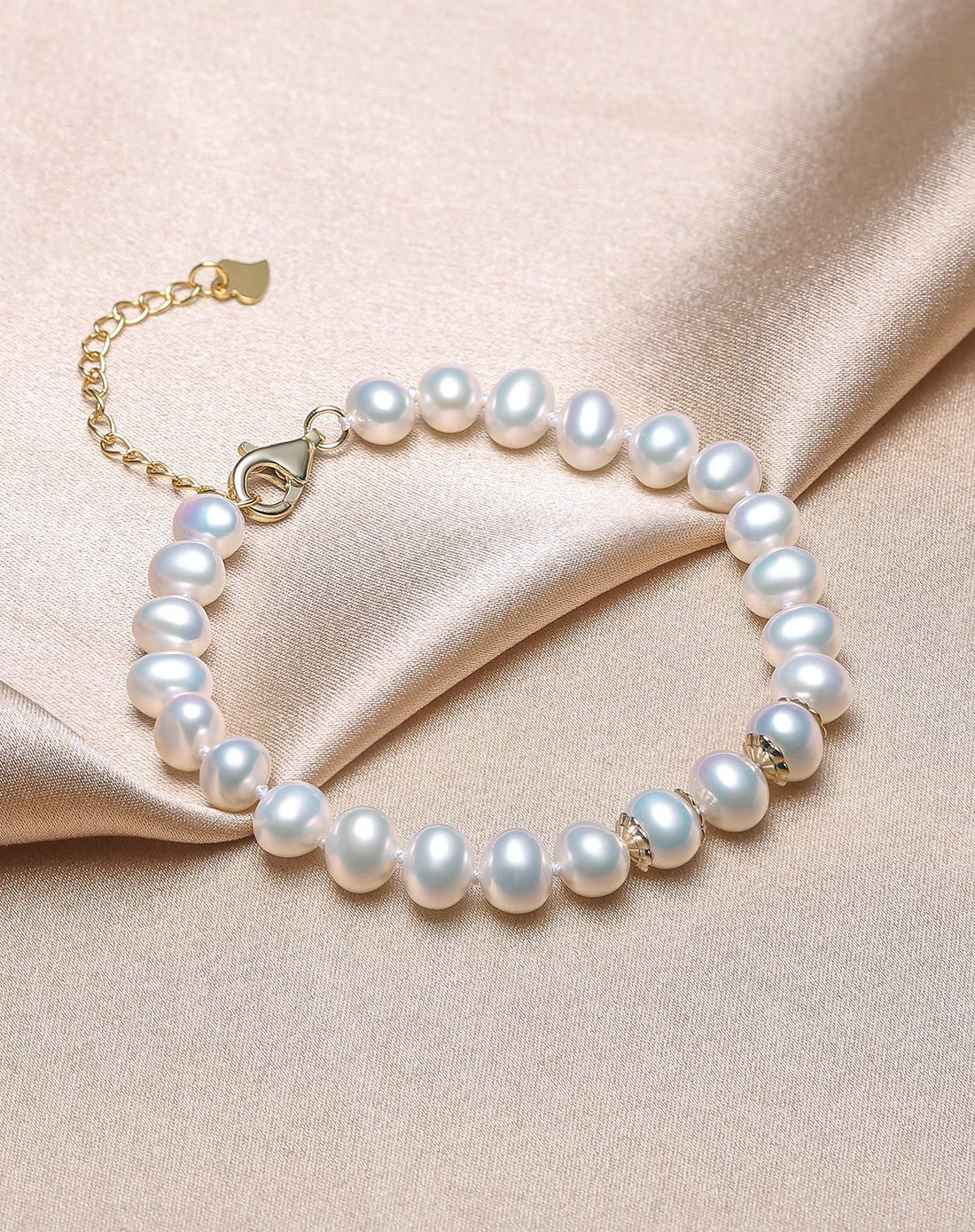 北海珍珠手鏈批發   6mm天然淡水珍珠手鏈  時尚飾品