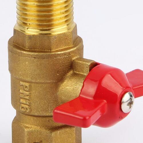全铜加厚燃气管阀门 4分内丝外丝三通阀门 煤气管天然气管开关阀