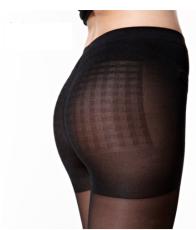 供应4双装帕兰朵正品12D超弹防勾丝袜 比基尼加裆 连裤袜隐形显瘦黑