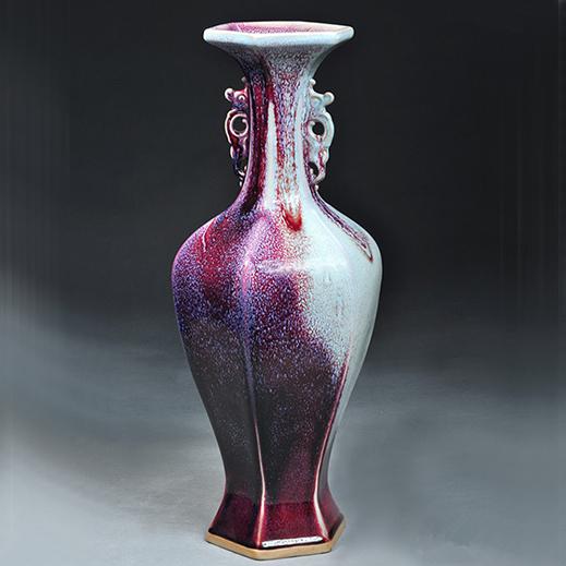 六棱瓶 经典瓶子系列 瑞丰钧窑 收藏品 礼品