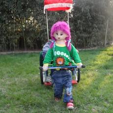 辰宇动物机器人拉车厂家 单人小人拉车儿童游乐场设备