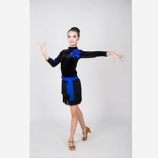 供应拉丁舞服装新款舞蹈练功服舞台演出服表演服女