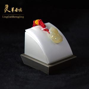 安庆市灵翠圣境翡翠贸易有限公司供应冰种黄翡貔貅,灵翠圣境品牌,优质玉石佩戴