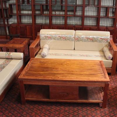 巴花新中式沙发6件套 茶几沙发组合 可上门丈量定制