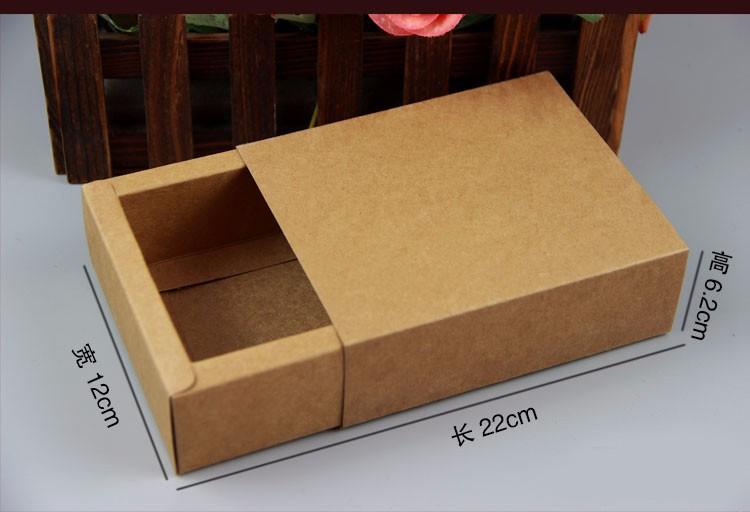 牛皮纸盒 包装盒手工皂茶叶化妆品飞机盒定制快递纸箱