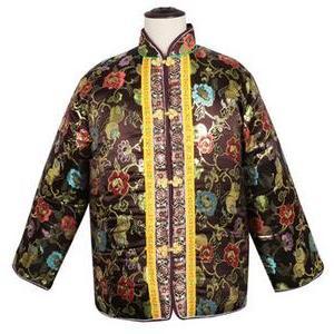 供应 七彩织金加厚寿衣三件套