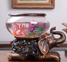家居装饰品 搂空大象鱼缸创意工艺品
