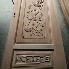 广东实木门厂佛山红海豚门业橡木门实木烤漆门原木烤漆门