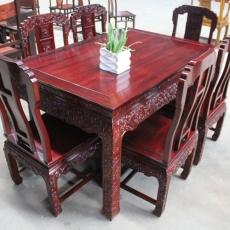 价格面议 巴花大板红木家具极品餐桌古典餐桌