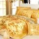 奢华真丝四件套蚕丝绸被套床单枕套床上用品