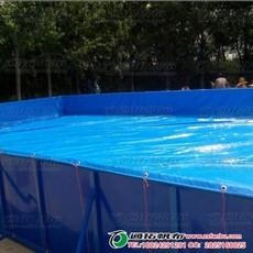 山西帆布鱼池定做-抗老化防渗水布料JL600A3-帆布游泳池生产厂