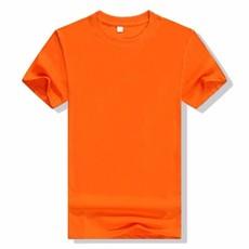 纯白色T恤短袖男夏宽松打底衫批发空白色纯棉圆领广告衫定制班服